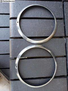 Karmann Ghia headlight rings Logoed