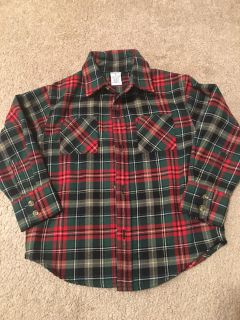 IEC Red and Green Plaid Flannel size 4