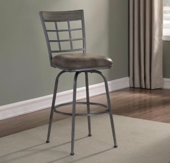 Pewter Swivel Bar Stool