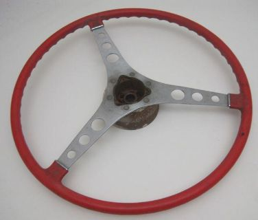 Purchase 1957 thru 1962 Corvette Steering Wheel Roman Red Used Original with Hub Bell motorcycle in Edmonds, Washington, US, for US $219.99