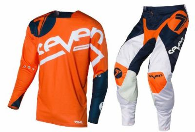 Find NEW 2016 SEVEN MX RIVAL ZONE DIRT BIKE STEWART GEAR COMBO ORANGE/NAVY SIZE 36/XL motorcycle in Chino, California, United States, for US $219.00