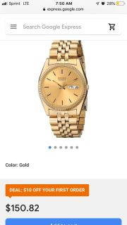Men s seiko gold watch