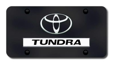 Buy Toyota Dual Tundra Chrome on Black License Plate Made in USA Genuine motorcycle in San Tan Valley, Arizona, US, for US $40.40