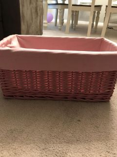 Pink sturdy basket with removable liner
