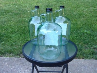 """Empty Bottles With Handles-Price is Each-6""""Wx13""""H-Add Twigs or Cotton Stems for Decor Accent-Great For Crafts, DIY Projects, Weddings, Etc"""
