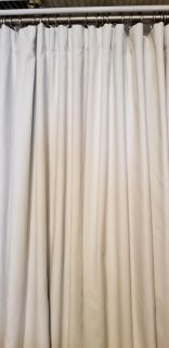 Pottery Barn room darkening curtains (2 panels) and hardware