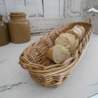 French Boulangerie, Wicker, Baguette Basket.