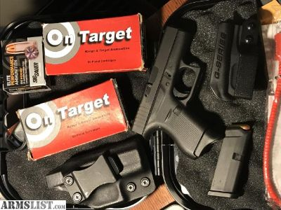 For Sale: Glock 42 with Holsters-Ammo