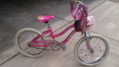 "Girls 20"" Bike with Helmet and Bag"