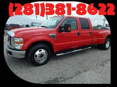 $21,981, 2008 Ford F350 Super Crew Lariat Dually  RED  1 Owner wclean CARFAX