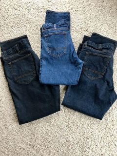 Lot of 3 Men s Arizona Jeans Size 38 x 32 Like New Pick up in Steward or Rochelle $18 for the lot
