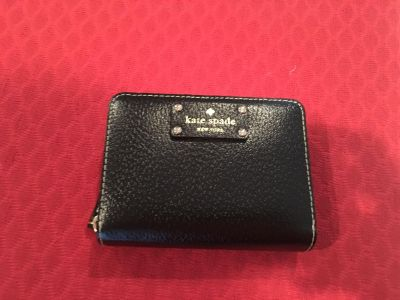 Kate Spade Black Leather Wallet - New!
