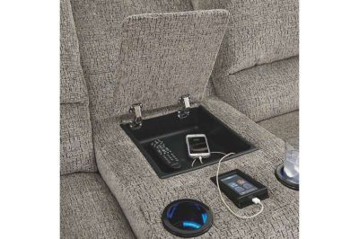 4-Piece Sectional w PWR USB CHARGING COOLING CUPS