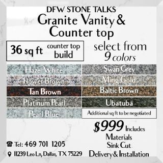 Dfw stone talks  - Granite Vanity and Counter top