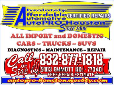 Low Mileage Engine Swaps for LESS at AutoPRO-Houston - 9103 Emmott Rd. - 77040
