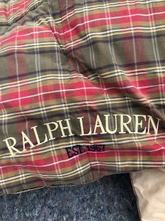Ralph Lauren Queen/Full down comforter - plaid reversible
