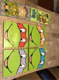 ninja turtles wall art - 6 pc.s