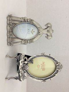 2 pewter picture frames