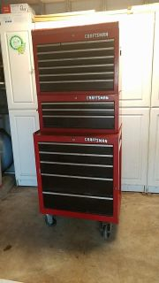 Craftsman 3 piece rolling tool chest