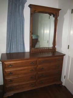 Maple Dresser and Mirror