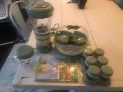 Baby bullet and steamer set