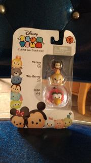 New in package, Disney, Tsum Tsum Series 3 Mickey, Miss Bunny, Lago. Asking $5.00