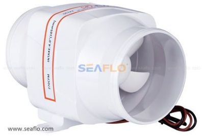 "Find SEAFLO 4"" In-Line Marine Bilge Air Blower 12V 270 CFM Quiet Boat White motorcycle in Oak Brook, Illinois, United States, for US $22.99"