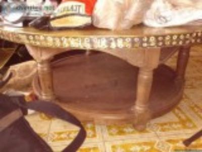 antique brass overlay coffee table