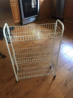 3 Tier wire cart, $10 (Scappoose Pick Up)