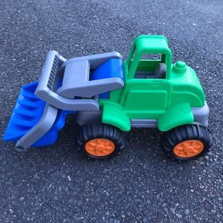 Large plastic tractor toy