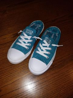 Converse Turquoise Lace Speed Tie Sneakers 8