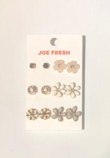 Earrings (6 pairs)