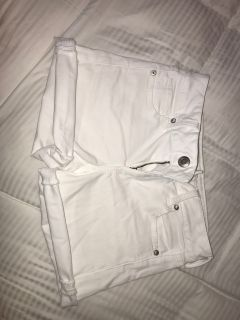 American Eagle Denim White Shorts
