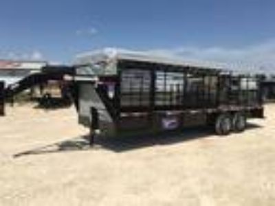 2018 Gooseneck 24 X 6'8 STEEL CATTLE TRAILER
