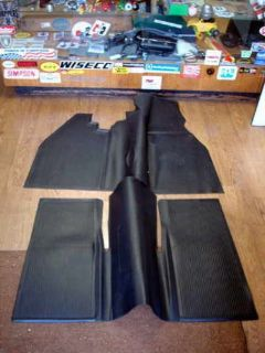 Find VW TYPE 1 BUG 1960-1967 SEDAN INTERIOR RUBBER FLOOR MAT SET IN BLACK motorcycle in Long Beach, California, United States, for US $100.00