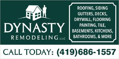 5 Star Reviews - 90% Customer Satisfaction - Dynasty Remodeling LLC - (419) 686-1557