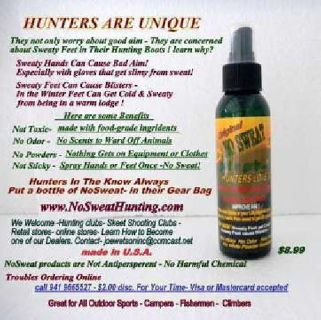 Hunting,Guns,Bows-Safety Begins With No Sweaty Hands, No Scents, Better Aim