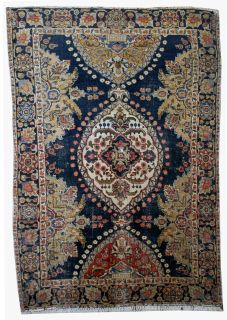 Hand made antique Persian Malayer rug, 1B26