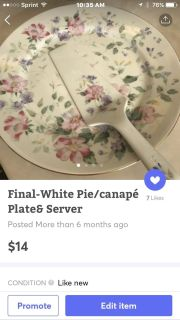 Pie plate and server