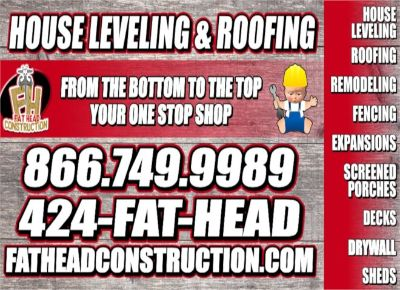 House leveling and Mobile Home leveling