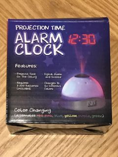 Projection Time Alarm Clock