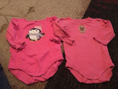 2 long sleeve Gymboree 12-18m pink onesies - ppu (near old chemstrand & 29) or PU @ the Marcus Pointe Thrift Store (on W st)