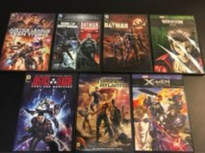 dc and marvel dvd lot