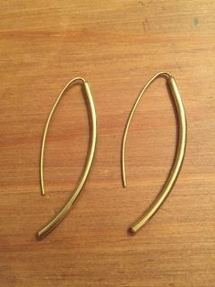Gold Soko threader earrings. New - never worn. About 2 long. Retail $60. Asking $30. Cross posted.