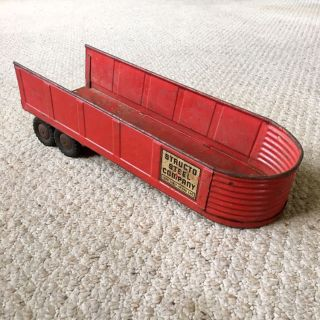Vintage 1950s Structo Toys Pressed Steel Trailer - Structo Steel Company - Made in USA