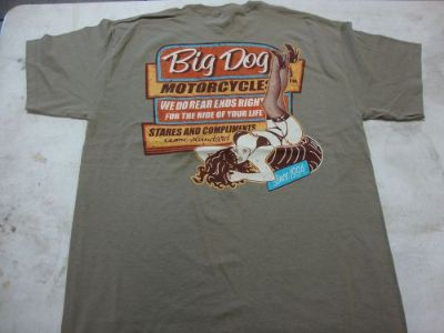 Sell BIG DOG MOTORCYCLES VINTAGE SIGN SHIRT L W/ FRONT & BACK DESIGN SHORT SLEEVE motorcycle in Lyons, Kansas, United States, for US $19.99