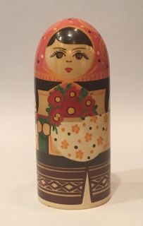 Antique/Vintage Hand Painted Nesting Dolls- Perfect Condition