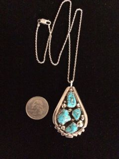 Sterling Silver & Turquoise Zuni Necklace