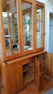 Solid oak DISPLAY & storage  cabinet