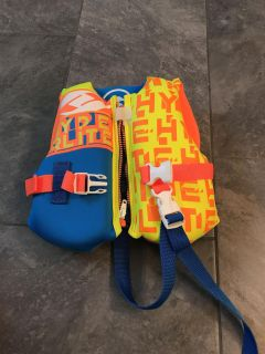 Excellent condition life jacket for under 30lbs